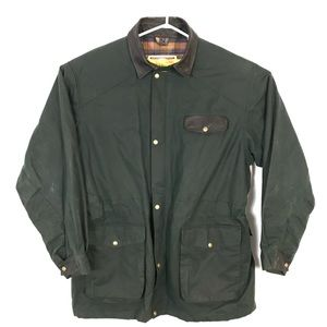 Koolah Middy Lined Coat cotton cracked wax leather